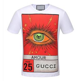 01aeaae65850 youth t shirts Promo Codes - Summer men and women short sleeve brand design  eagle eye