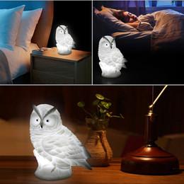 2019 tiernachtlichter Tier led nachtlicht schöne kreative kaninchen fuchs eule lichter silikon puppen nachtlicht baby schlafzimmer tischlampe geschenk für kind rabatt tiernachtlichter