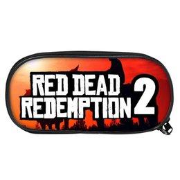 Fare il gioco scolastico online-Caso di stampa di nuovi giochi di moda Casella di studio Red Dead Redenzione per studenti Studenti Pen Make Up Bags