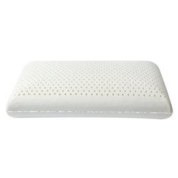 White pillows online-Purenlatex Almohada + Chaqueta interior Látex blanco Rosa Patrón Adulto Puro Natural Protección del cuello Masaje Almohada Vértebra Látex Pil