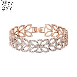 corsage armbänder großhandel Rabatt Elegante hochzeit brautpartei prom schmuck legierung kristall strass armband für frauen