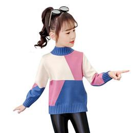 Camisas occidentales de algodón online-Niñas jersey nuevos niños de invierno estilo occidental superior suéter grueso que basa la camisa de la ropa de los niños