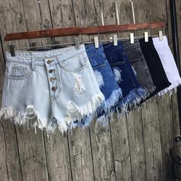 2019 xxxl tamanho jeans feminino Botas Sexy Rasgado Plus Size Shorts De Cintura Alta Denim Short Shorts Verão 2109 Hot Moda Mulheres Shorts Jeans Xxxl 4xl 5xl 6xl C19041201 xxxl tamanho jeans feminino barato