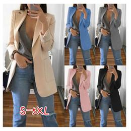 herbst orange frauen blazer Rabatt Damen europäischen und amerikanischen Mode Revers Slim Anzug Jacke weibliche Herbst Anzug Jacke Damen Business Pocket Fit Blazer