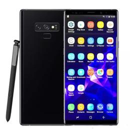 nota de telefone celular android 16gb Desconto Goophone 10 plus nota 9 telefones celulares desbloqueado telefone quad core 1 GB ram 16 GB rom 6.4 polegadas Tela Cheia Mostrar 128 GB falso 4g lte Android Smartphone