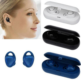 Bluetooth dual ohrhörer online-Neue Marke Kopfhörer SM-R150 In-Ear-Ohrhörer Dual-Ear Wireless Bluetooth4.2 Headset HiFi Sport für Samsung Gear iConX Bluetooth Kopfhörer