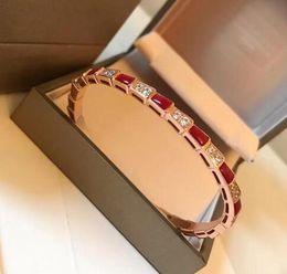 Brazalete de hueso online-Joyería de bodas de lujo amor bracele Sperpenti Viper serie pulsera de hueso de serpiente anillo brazalete pulsera de eslabones de círculo de plata esterlina