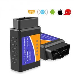 programador silca sbb Desconto ELM327 V1.5 OBD2 WIFI Scanner PIC18F25K80 Chip leitor de código OBD 2 ferramenta de diagnóstico Auto Scanner ELM 327