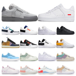 zapatos para hombres y mujeres  Rebajas nike air force 1 Men 1 Utility Classic Black White Dunk Women Casual Shoes red one Skateboard High Low Cut Entrenadores deportivos Wheaters tamaño 36-45