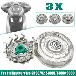 3шт из нержавеющей стали бритвы лезвия для Philips Norelco SH90 / 52 S7000 S8000 S9000 электрическая бритва запасные части от