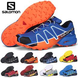 wanderschuhe online Rabatt Neue Salomon Speed Cross 4 CS IV Herren Laufschuhe Outdoor Walking Jogging Sneakers Herren Damen Athletic SpeedCross Sports Online Sale