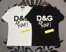camiseta de chuva Desconto Em 2019, uma nova chuva marca DG moda boutique de alta qualidade mercerizado de algodão dos homens de manga curta de algodão T-shirt