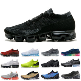 Leopard sneakers men online-nike air vapormax flyknit 2 36-45 Air Vampor max 2.0 Cushion Running Sportschuhe Damen Herren Zebrasegel Mango Oreo Tiger Leopard Chrom Neutral Oliv Sportschuhe