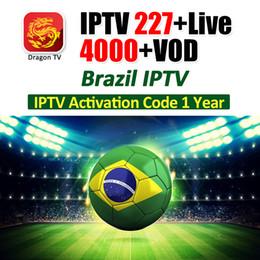 IPTV 227 + Live / 4000 + VOD para Brasil IPTV HD 4K canales Hot Brazil Soccer Live Código de activación de soporte para TV Box 1 año de suscripción a IPTV desde fabricantes