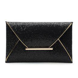 Enveloppes en cuir en Ligne-Baellerry 2019 dames en cuir PU enveloppe Top-Handle Sacs Sparkle Bling soirée soirée pochette sac à main paillettes Glitter sac à main # 33275