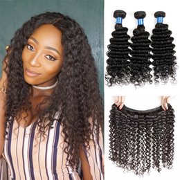 Deep Wave Virgin Indian Hair Pas cher Deep Curly Hair 4 Bundles Indien Vierge Hair Deep Wave Naturel Noir ? partir de fabricateur