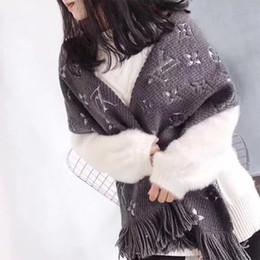 Châles d'argent en Ligne-Écharpe en cachemire de haute qualité pour femmes Designer Longues écharpes avec fil d'argent Châles Wrap With Tags 180x40cm Châles