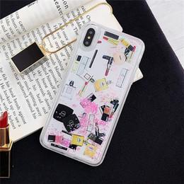 3d lippenstift make up case für iphone x xs max xr 8 8 plus 7 dynamische quicksand flüssigkeit für ich telefon 7 7 plus 6 6 s fällen luxus designer abdeckung von Fabrikanten