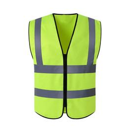 uniformes de segurança Desconto Colete de segurança de Alta Visibilidade Reflective Workplace Road Jaqueta de Segurança de Trabalho Ao Ar Livre Colete Ciclismo Sportswear Uniformes