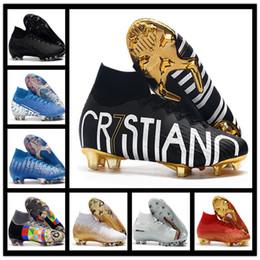 2019 Tacchetti da calcio da uomo alti alla caviglia FG Hypervenom Phantom III DF scarpe da calcio neymar IC scarpe da calcio tacchetti Scarpe da calcio da uomo a buon mercato da