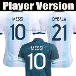 Jersey di qualità del messi online-2020 Player versione Argentina Maglia calcio camiseta 2021 camicia di calcio di MESSI AGUERO HIGUAIN Dybala ICARDI DI MARIA qualità della Tailandia