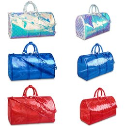 Nouvelle mode Laser Flash PVC Designer Sacs à main 50 Transparent Duffle Bag Brillant Couleur Bagages Sac De Voyage keepall Épaule Handb1563940837 ? partir de fabricateur