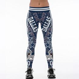 Il trasporto ha stampato i pantaloni di yoga online-S-4XL caldo multi-colore donne legging pantaloni Dallas pantaloni da cowboy stampati a vita alta cintura larga da corsa collant fitness pantaloni yoga