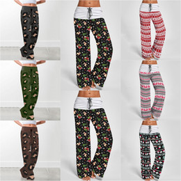 Pantalones de yoga con estampado de leopardo online-Leopard Christmas Wide Leg Pants 7 Styles Comfy Print Drawstring Lounge Yoga Trousers Loose Harem Pants Maternity Bottoms OOA7226-6