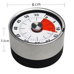 2019 kleine mechanische timer Baldr 8cm Mechanische Countdown Edelstahl-magnetisches Timer Kochzeit Erinnerung Wecker Praktische Küchenhelfer MMA2523-A1