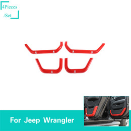 accessories for jeep Coupons - 4Door Red Net Pocket Decorative Cover For Jeep Wrangler JL 2018 Factory Outlet High Quatlity Auto Internal Accessories