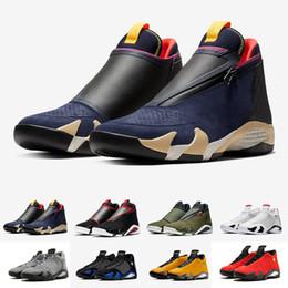 Mejor calidad 2019 14 Hombres 14s Zapatillas de baloncesto Grafito claro Mujeres hombres Diseñador Wave Runner cestas Zapatillas deportivas Chaussures