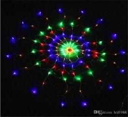 2019 многоцветные рождественские огни для 1.2 м 120led паутина светодиодные огни строки чистый свет Рождество Хэллоуин свадебные украшения многоцветный скидка многоцветные рождественские огни для