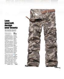 pop de poche Promotion Camouflage Style coréen Pantalon cargo Big Pocket Décoration Casual Hommes Pantalon Designer Hip Pop Homme Pantalon