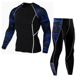 athletic yoga pants Coupons - New Man Workout Leggings Fitness Sports Cloth Set Gym Running Yoga Athletic Pants Shirt Suit Gym Clothes Running Tights