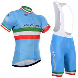 Ciclismo astana online-Crossrider 2019 Equipo Astana Ciclismo Jersey Bike Manga corta Set Mtb Ropa Ciclismo Pro Ciclismo Ropa Hombre Bicicleta Maillot Culotte