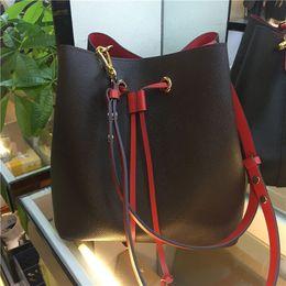 bolso multi bolsillo algodon Rebajas 2019 diseñador bolsas de hombro bolsos famoso NEONOE Noé mujeres del bolso cubo de cuero impresión de la flor del monedero del bolso crossbody