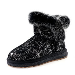 Women Warm Snow Boots Winter Shoes Wedges High Folding High Heels Draw Thermal Winter Boots Female Knee Red Boots High Heel Boots From Gavingg,