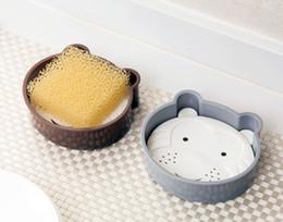 2019 fumetto di sapone New Cartoon Double Layer Soap Dishes Creativo Home Animal Soap Box Bagno Cucina Usa supporto di sapone in plastica fumetto di sapone economici