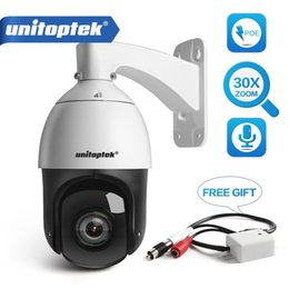 mini ptz camera Promo Codes - HD 1080P PTZ Dome IP Camera Outdoor POE Audio H.265 ONVIF 30X ZOOM Mini High Speed CCTV Security PTZ Camera 2MP IR 330ft P2P