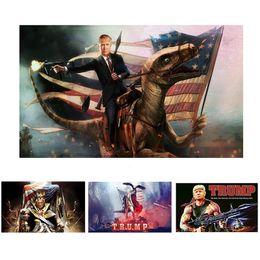 banner de impresión digital Rebajas Donald Trump Flag 90X150 CM Keep American Great Again EE. UU. Banderas Impresión Digital Banner Elección Poliéster 6 Color MMA2045