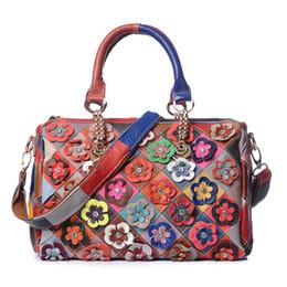 Acheter des sacs en polyester en Ligne-2019 marque designer de luxe mode sacs 7 styles style national en cuir véritable couleur couture designer sacs à main designer New hot buy
