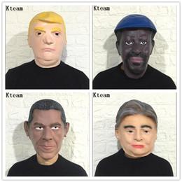 2019 máscaras de celebridades de estados unidos Donald Trump Mask, multimillonario, traje presidencial, látex, Obama, Cospaly Mask, el presidente de EE. UU., Trump Mask, para la celebridad PSY Spoof Props máscaras de celebridades de estados unidos baratos