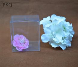 Transparente pvc box süßigkeit online-30pcs Wholesale neues freies PVC-Kasten-Verpackungs-Hochzeits- / Weihnachtsbevorzugungs-Schaukarton-Schokoladen-Süßigkeits-Apple-Geschenk-Ereignis transparent
