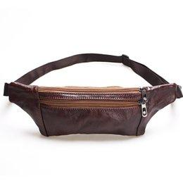 Ao Ar Livre Waistpack couro bolsos dos homens couro puro couro pessoais bolsos de telefone celular de
