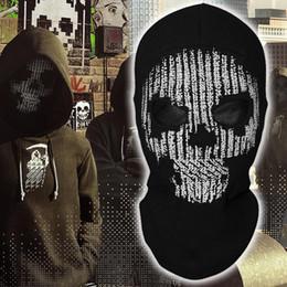máscara táctica esqueleto Rebajas Watch Dogs 2 Hacker Skull Game Skeleton Ghost Balaclavas Tactical Holloway Paintball Winter Full Face Mask