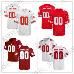 3257da072 Cheap custom Wisconsin Badgers Men s College football jersey Customized  College Jersey Any name number Stitched Jersey XS-5XL customized college  football ...