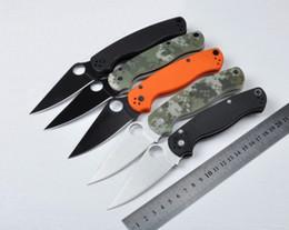 mejores cuchillos pequeños Rebajas Marca bolsillo táctico C81 cuchillo plegable al por mayor de araña para acampar al aire libre de autodefensa cuchillos de caza portátil cuchillos EDC herramientas envío libre