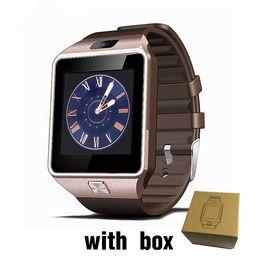Tarjeta iphone 2g online-DZ09 Smart Watch android Smartwatch Android Llamada de teléfono Relogio 2G GSM SIM Tarjeta cámara para iPhone Samsung PK GT08 A1 u8