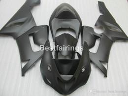 636 plastiques en Ligne-Kit carénage en plastique de haute qualité pour ensemble de carénages noir mat Kawasaki Ninja ZX-6R 636 05 06 ZX6R 2005 2006 MS16