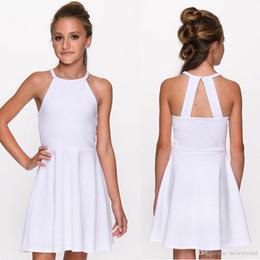 6a483813ea46f Beyaz A-line 2019 Kısa Mezuniyet Elbiseleri Halter Gençler Gayri Mezuniyet  Elbise için 8. Sınıf Custom Made white graduation dresses juniors deals